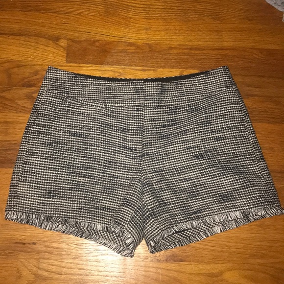 Ann Taylor Pants - Black and white tweed shorts